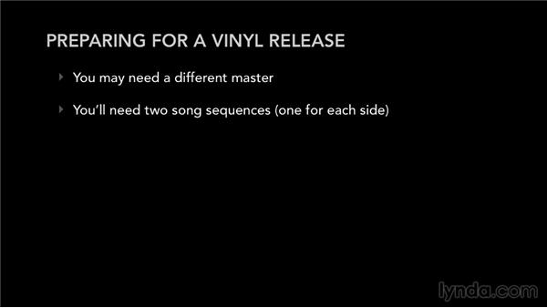 Preparing for a vinyl release: Selling Music: MP3s, Streams, and CDs