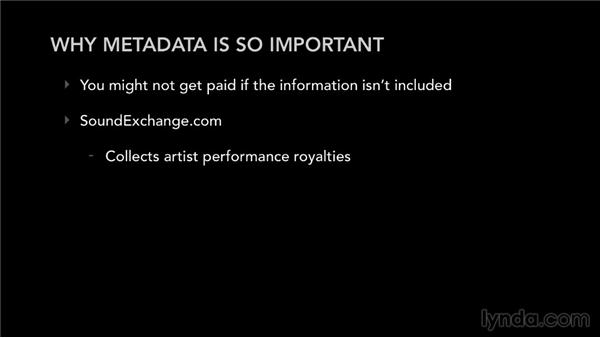 The reason why metadata is so important: Selling Music: MP3s, Streams, and CDs