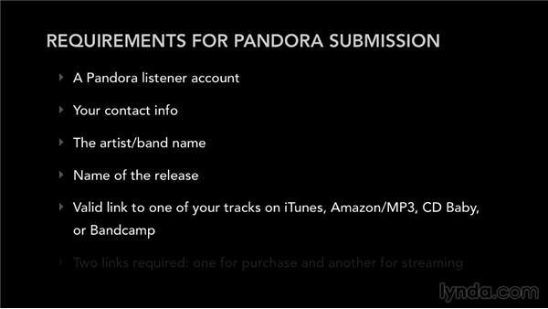 Submitting your songs to Pandora: Selling Music: MP3s, Streams, and CDs