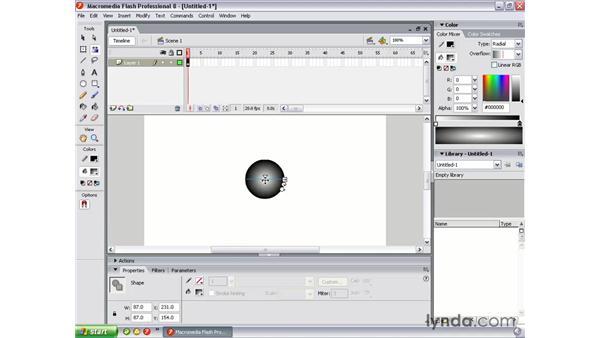 Animating gradients: Flash Professional 8 Essential Training
