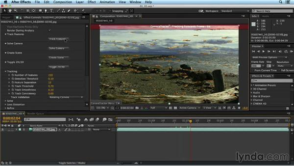 Tracking the motion in a shot: Up and Running with the Foundry CameraTracker for After Effects