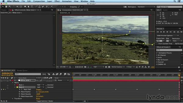 Refining tracks with garbage mattes: Up and Running with the Foundry CameraTracker for After Effects