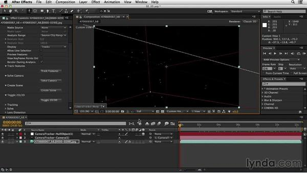Using the point cloud view: Up and Running with the Foundry CameraTracker for After Effects