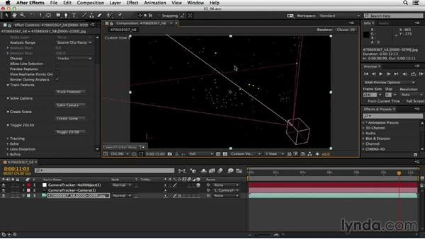 Setting the ground plane: Up and Running with the Foundry CameraTracker for After Effects