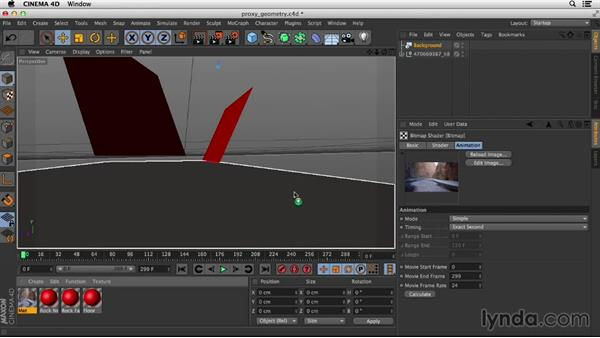 Setting up geometry in CINEMA 4D: Up and Running with the Foundry CameraTracker for After Effects