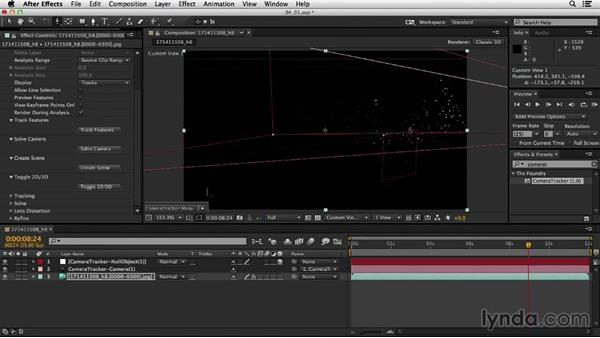 Creating an axis when no ground plane is present: Up and Running with the Foundry CameraTracker for After Effects