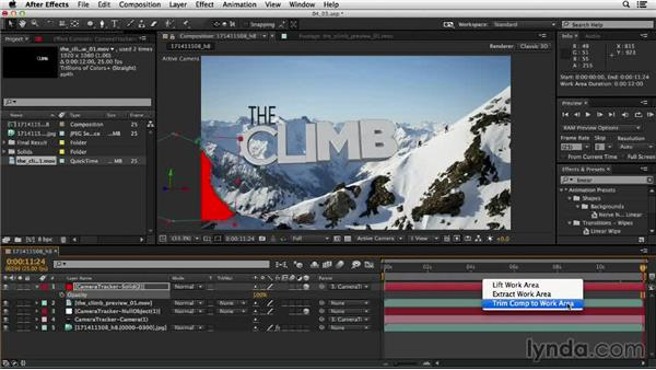 Integrating 3D text into a shot: Up and Running with the Foundry CameraTracker for After Effects