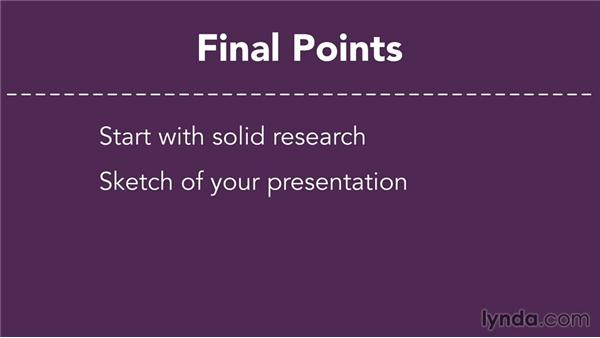 Next steps: Presentation Fundamentals