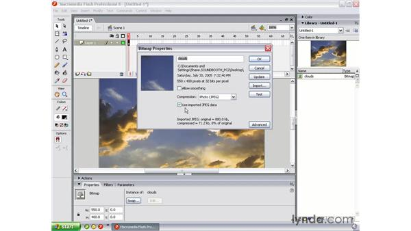 Importing and compressing: Flash Professional 8 Essential Training