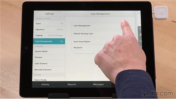 Customizing register settings on a tablet: Up and Running with Square Register