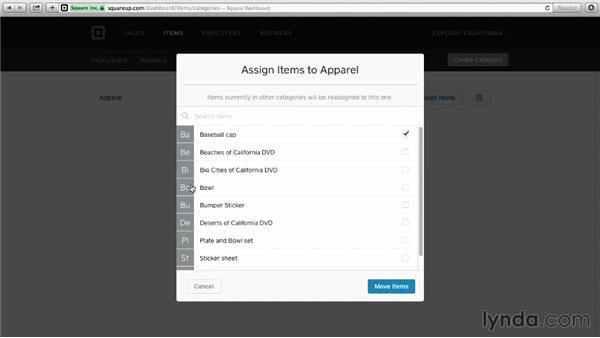 Categorizing items: Up and Running with Square Register