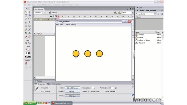 Button types: Flash Professional 8 Essential Training