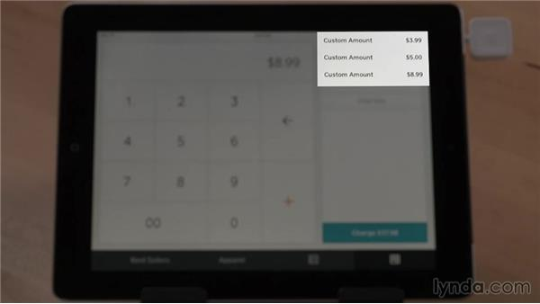 Adding ad-hoc amounts to a sale: Up and Running with Square Register