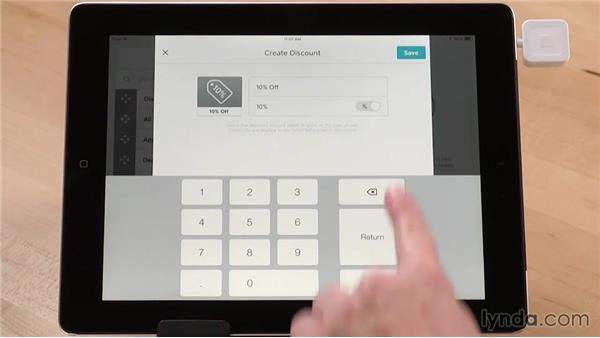 Creating discounts: Up and Running with Square Register