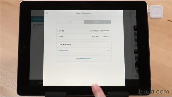 Running reports on your tablet: Up and Running with Square Register