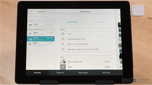 Issuing refunds: Up and Running with Square Register