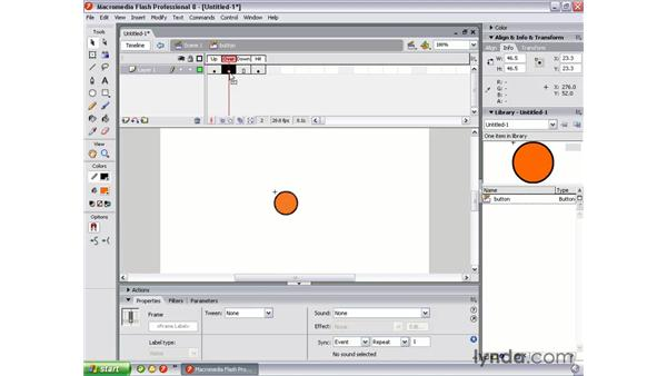 Rollover button: Flash Professional 8 Essential Training