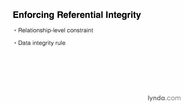 Enforcing referential integrity: Relational Database Fundamentals