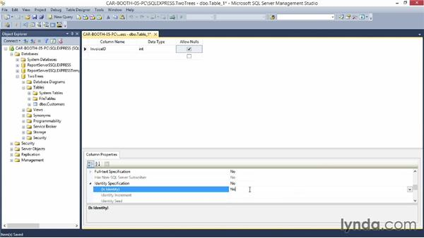 Creating the tables in SQL Server: Relational Database Fundamentals