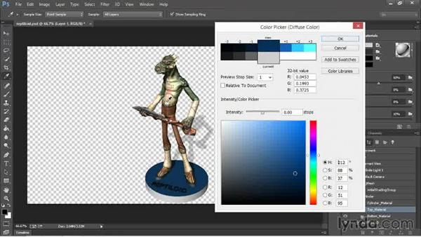 Applying textures for color printing: 3D Printing with Photoshop