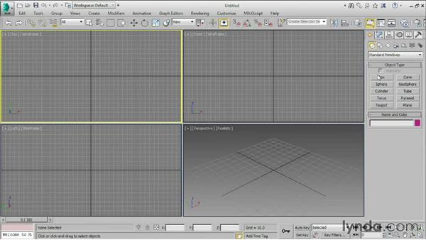 Getting familiar with the interface: 3ds Max 2015 Essential Training