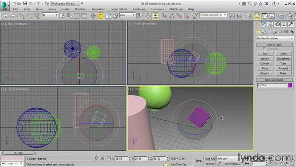 Transforming objects: 3ds Max 2015 Essential Training