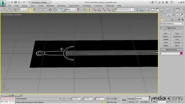 Controlling Display properties: 3ds Max 2015 Essential Training