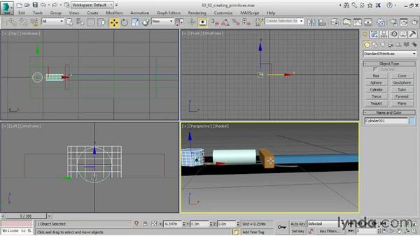 Creating primitives: 3ds Max 2015 Essential Training