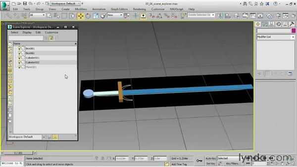 Working with Scene Explorer: 3ds Max 2015 Essential Training