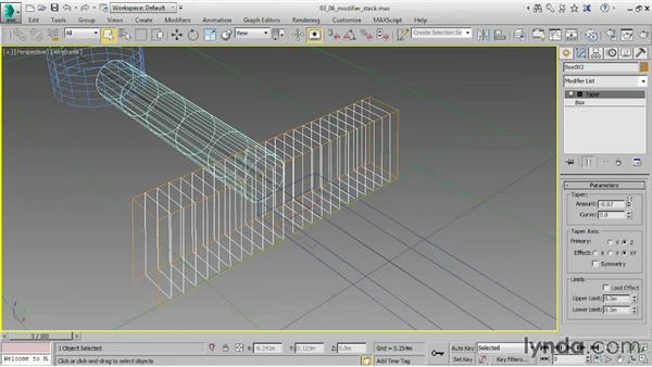 Working with the modifier stack: 3ds Max 2015 Essential Training