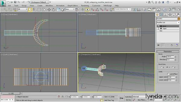 Collapsing the modifier stack: 3ds Max 2015 Essential Training
