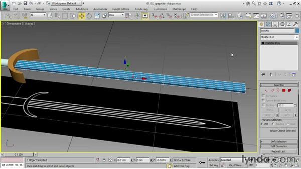 Using the Graphite ribbon with Editable Poly: 3ds Max 2015 Essential Training