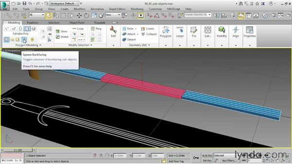 Working with subobjects: 3ds Max 2015 Essential Training
