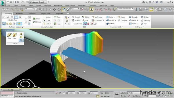 Using soft selection: 3ds Max 2015 Essential Training