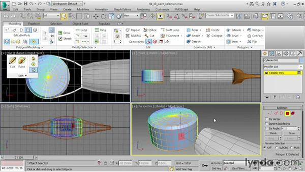 Using Paint Selection: 3ds Max 2015 Essential Training