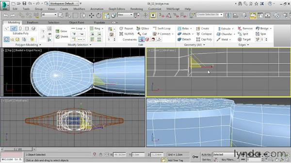 Joining elements with Bridge: 3ds Max 2015 Essential Training