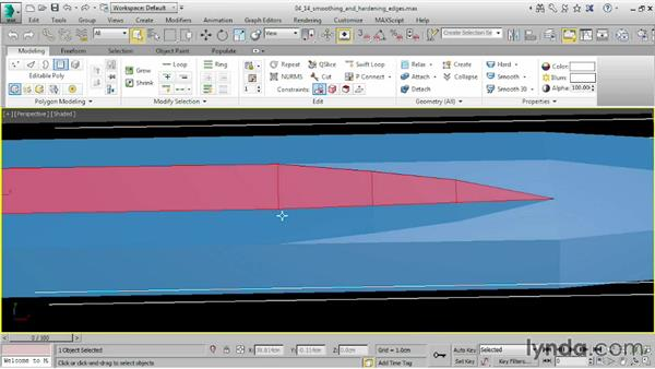 Smoothing and hardening edges: 3ds Max 2015 Essential Training