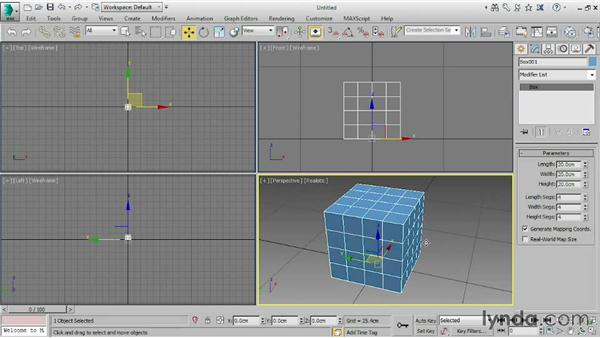 Creating an editable poly object: 3ds Max 2015 Essential Training