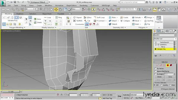 Inserting edge loops with SwiftLoop: 3ds Max 2015 Essential Training