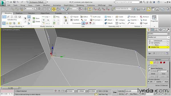 Constraining subobject transforms: 3ds Max 2015 Essential Training