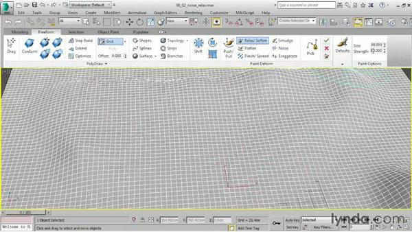 Using Noise and Relax Brushes: 3ds Max 2015 Essential Training