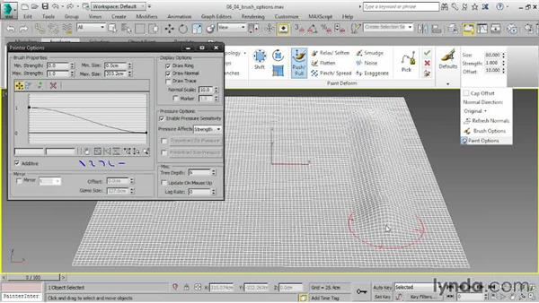 Controlling Brush options: 3ds Max 2015 Essential Training
