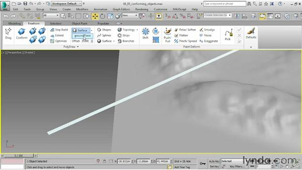 Conforming one object to another: 3ds Max 2015 Essential Training