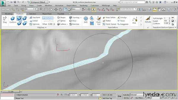 Sculpting with Conform Transform brushes: 3ds Max 2015 Essential Training