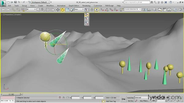 Positioning objects with Select and Place: 3ds Max 2015 Essential Training