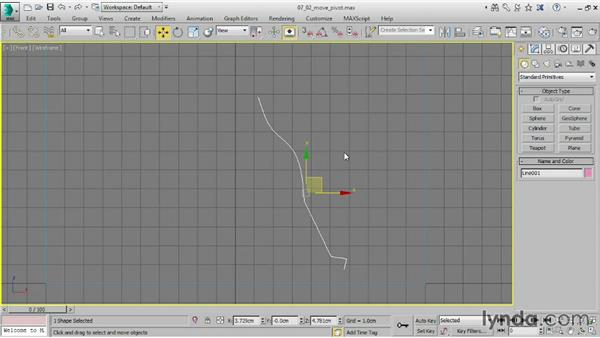 Moving a pivot point: 3ds Max 2015 Essential Training