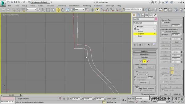 Offsetting a spline with Outline: 3ds Max 2015 Essential Training