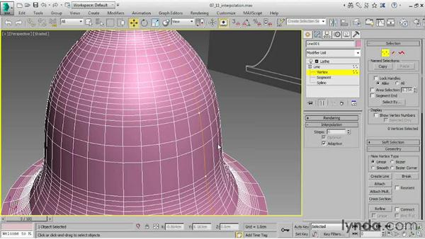 Adjusting level of detail with Interpolation: 3ds Max 2015 Essential Training