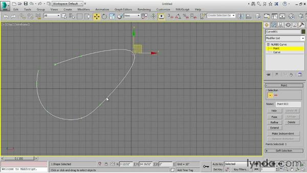 Creating NURBS curves: 3ds Max 2015 Essential Training