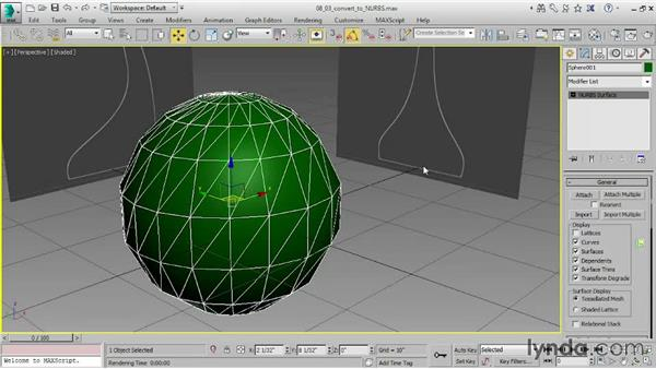 Converting objects to NURBS: 3ds Max 2015 Essential Training